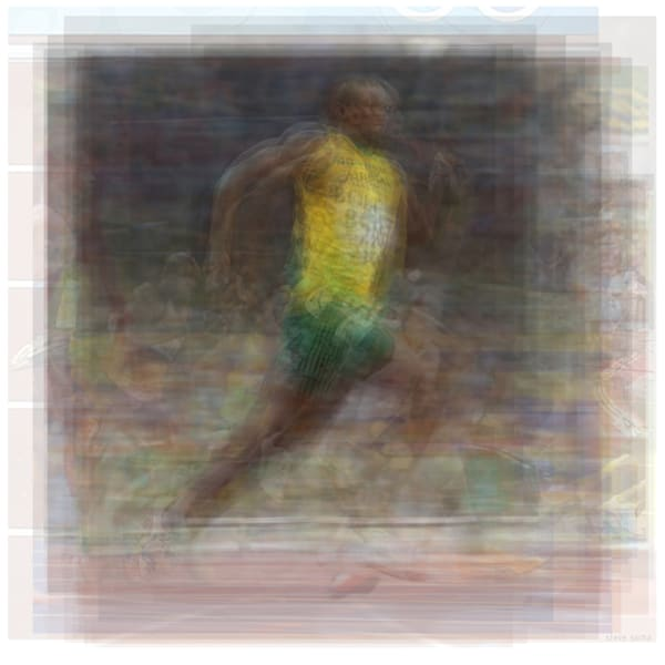 Overlay art – contemporary fine art prints of Usain Bolt