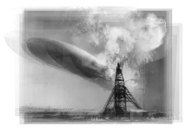 Overlay art – contemporary fine art prints of the Hindenburg Disaster