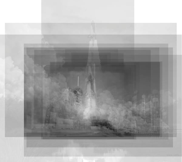 Overlay art – contemporary fine art prints of the Space Shuttle Launch