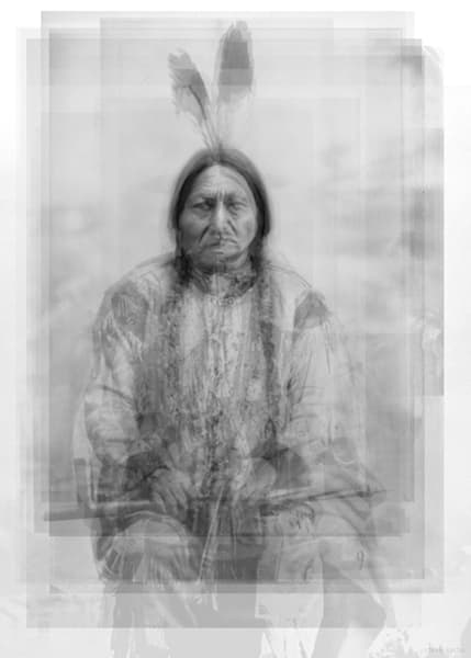 Overlay art – contemporary fine art prints of Sitting Bull