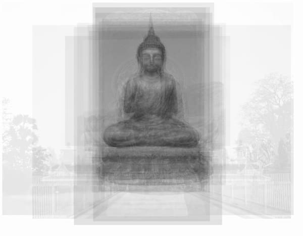 Overlay art – contemporary fine art prints of Buddha