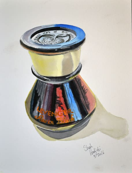Ink Bottle - Watercolor paining, prints available at various sizes