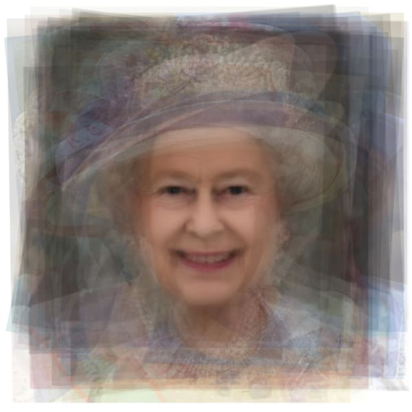 Overlay art – contemporary fine art prints of Queen Elizabeth II