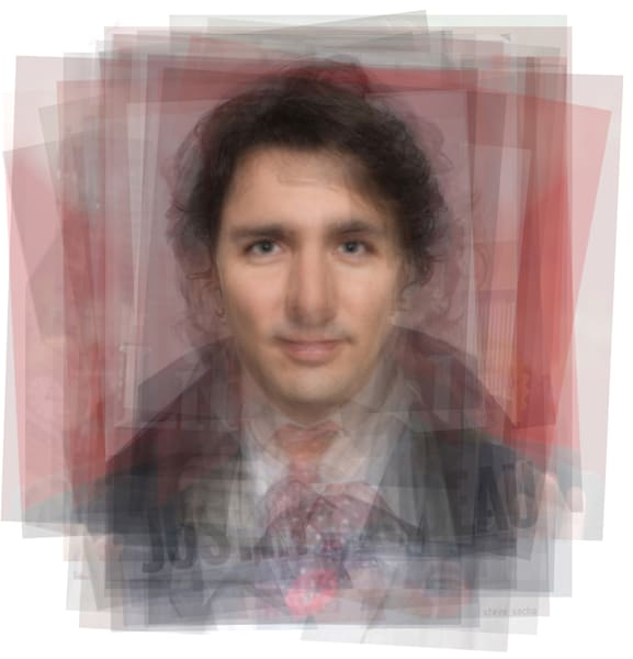 Overlay art – contemporary fine art prints of Justin Trudeau