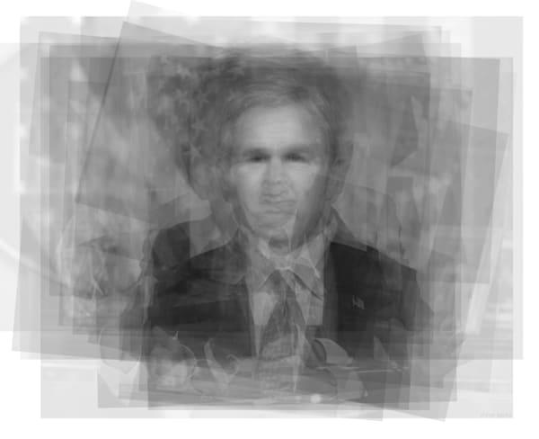 Overlay art – contemporary art prints for sale of U.S. President  George W. Bush