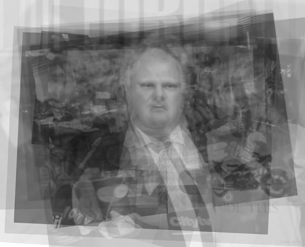 Overlay art – contemporary art prints for sale of former mayor of Toronto, Rob Ford