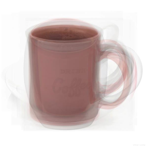 Overlay art – contemporary fine art prints of a Coffee Mug