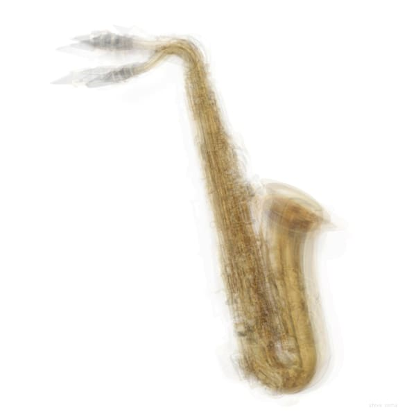 Overlay art – contemporary fine art prints of a Saxophone