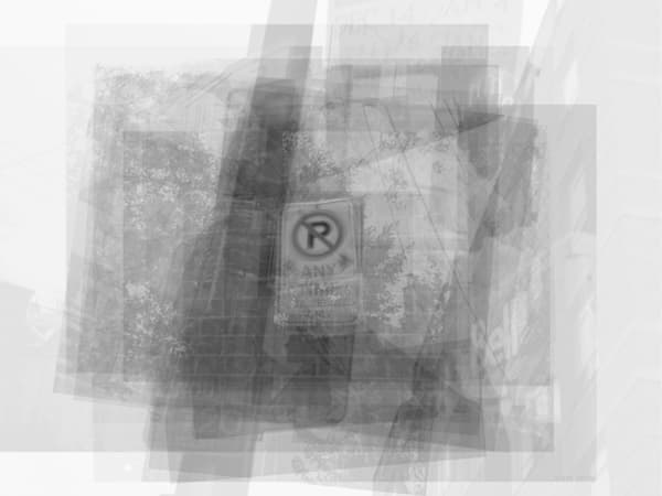 Overlay art – contemporary fine art prints of a No Parking Street Sign