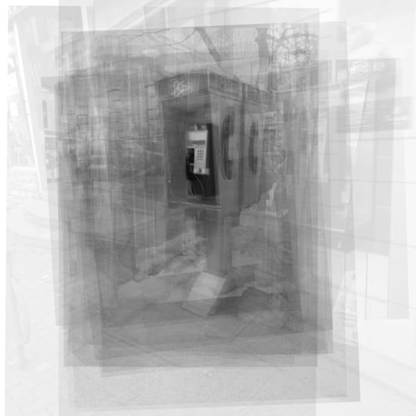 Overlay art – contemporary fine art prints of a Pay Phone