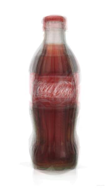 Overlay art – contemporary fine art prints of a Coke Bottle