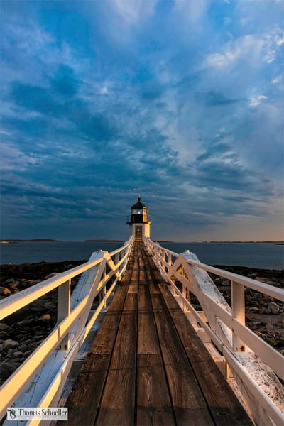 The magical golden hour at Marshall Point Lighthouse makes the perfect home decor print! First-time buyers eligible for discounts