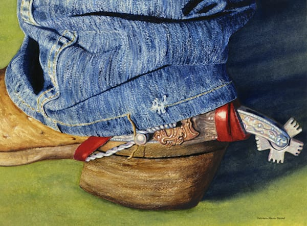 Left Cowboy Boot Art | ColleenNashBecht