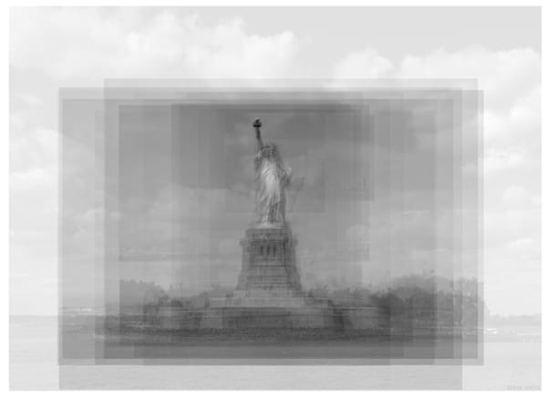 Overlay art – contemporary fine art prints of the Statue of Liberty