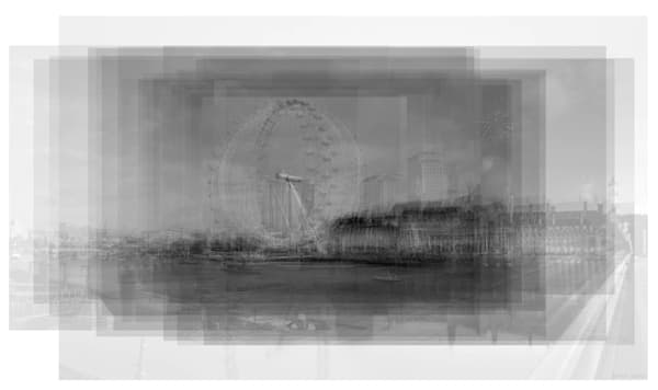 Overlay art – contemporary fine art prints of the London Eye Ferris Wheel
