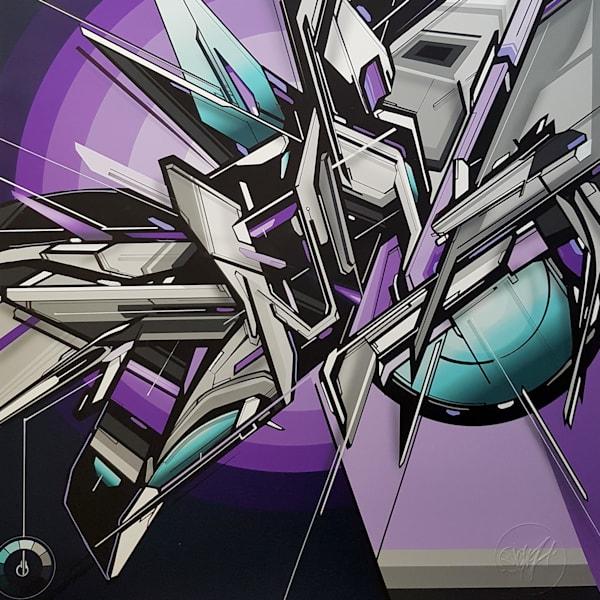MEDIAH   IAH DIGITAL - Diadem purple abstract artwork for Sale as Fine Art