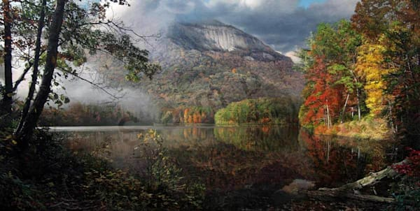 Table Rock in Autumn on Fine Art Paper and Canvas for Sale