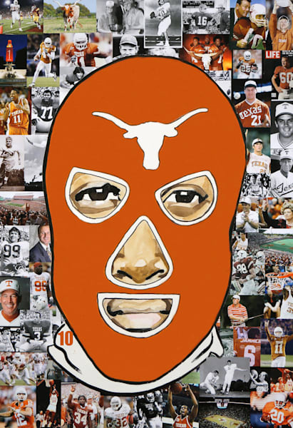 Longhorn Luchador Art | William K. Stidham - heART Art