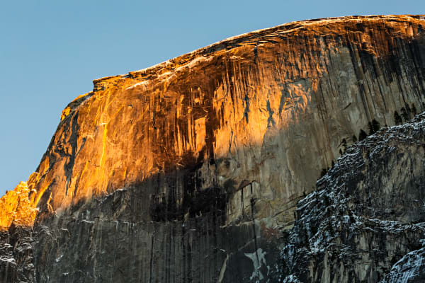 Golden Sunset Light On Half Dome Photograph for Sale as Fine Art
