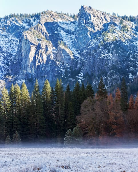 Frosty Frozen El Capitan Meadow Photograph For Sale As Fine Art