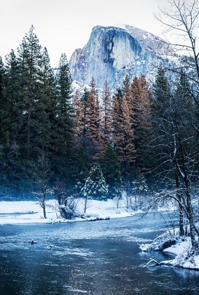 Half Dome and Merced River From Sentinel Bridge Photograph For Sale As Fine Art