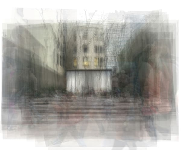 Overlay art – contemporary fine art prints of Paley Park NYC