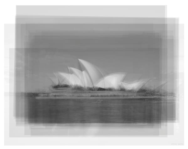 Overlay art – contemporary fine art prints of the Sydney Opera House