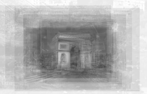 Overlay art – contemporary fine art prints of the Arc de Triomphe