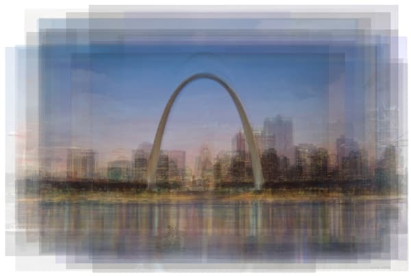 Overlay art – contemporary fine art prints of the Gateway Arch, St. Louis