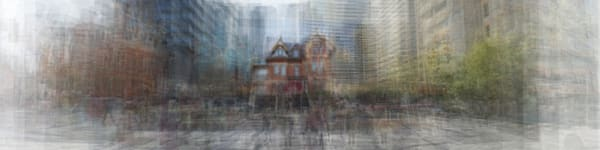 Overlay art – contemporary fine art prints of the Selby Hotel in Toronto