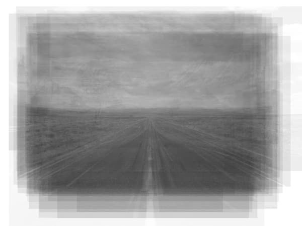 Overlay art – contemporary art prints for sale of open road