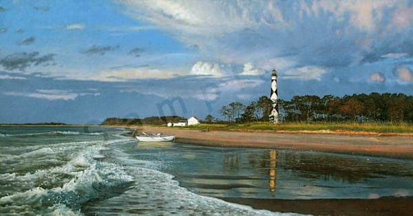 Beacon of the Shoals on Fine Art Paper for Sale