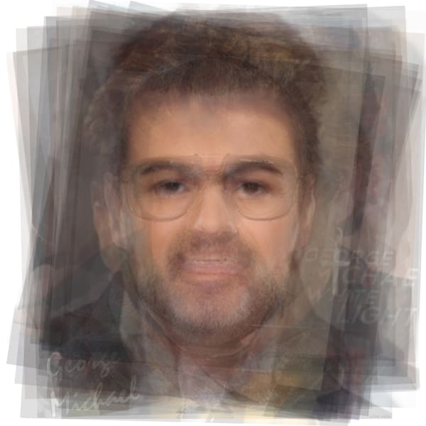 Overlay art – contemporary fine art prints of George Michael