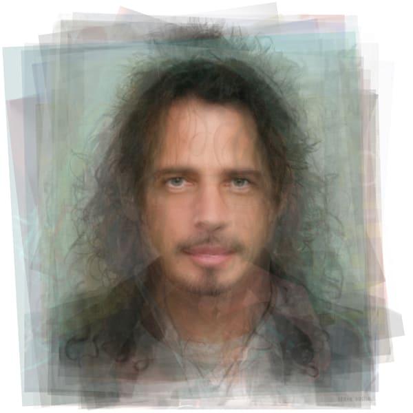 Overlay art – contemporary fine art prints of Chris Cornell