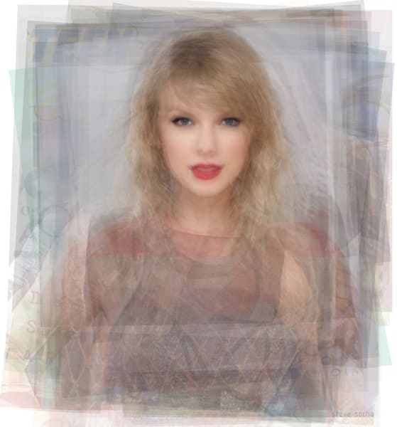 Overlay art – contemporary fine art prints of Taylor Swift