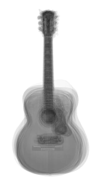 Overlay art – contemporary fine art prints of an acoustic guitar