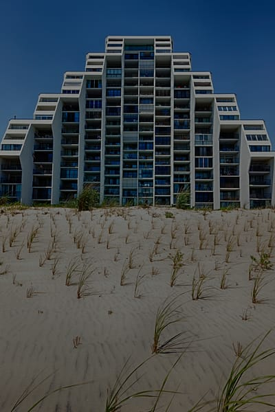 A Fine Art Photograph of the Coldwell Hotel in Ocean City by Michael Pucciarelli