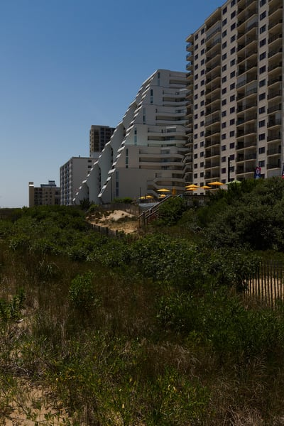A Fine Art Photograph Ocean City Hotels by Michael Pucciarelli