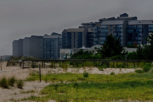 A Fine Art Photograph of a Bethany Beach Hotel by Michael Pucciarelli