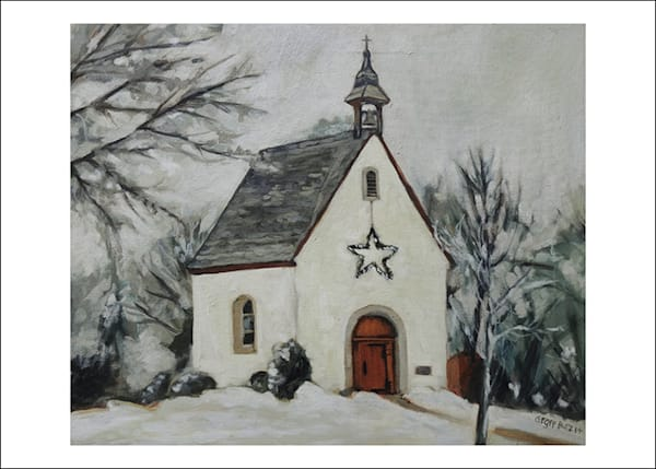 Schoenstatt Shrine Minnesota In Winter Art Card   Set Of 5 | Geoffrey Butz Art & Design Inc