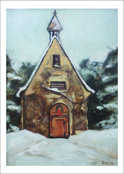 Schoenstatt Shrine   Waukesha Wi At Christmas Art Cards   Set Of 5 | Geoffrey Butz Art & Design Inc