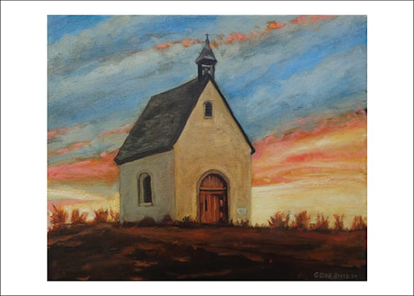 Schoenstatt Shrine Nebraska At Sunset  Art Cards   Set Of 5 | Geoffrey Butz Art & Design Inc