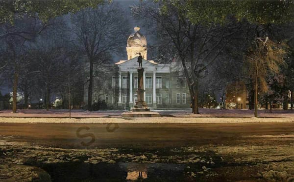 Courthouse on Fine Art Paper and Canvas for Sale