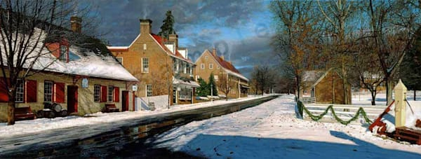 Main Street in Old Salem on Fine Art Paper and Canvas for Sale