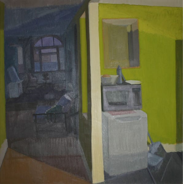 Shop for original paintings like Kitchen and Williamsburg Brooklyn, oil on canvas by Shannon Rogers at Matt McLeod Fine Art Gallery.