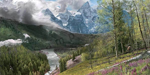 Springtime in the Tetons on Fine Art Paper and Canvas for Sale