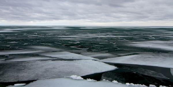 Ice, winter, water, landscape, fine art photograph for sale
