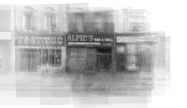 Overlay art – contemporary fine art prints of Alfie's in Toronto