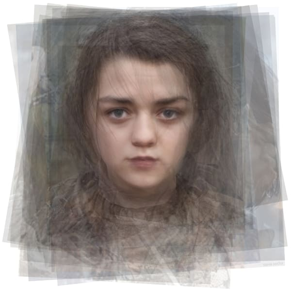 Overlay art – contemporary fine art prints of Arya Stark from Game of Thrones