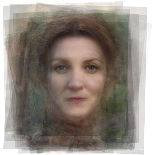 Overlay art – contemporary fine art prints of Catelyn Stark from Game of Thrones